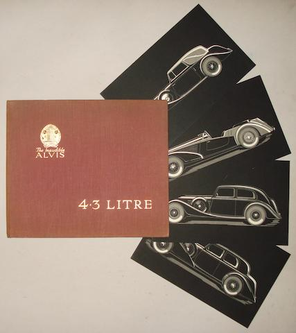 An Alvis 4.3 litre sales brochure