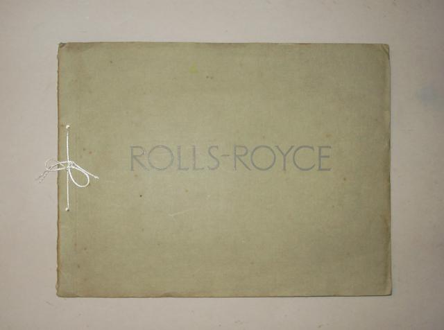 A sales brochure for the Twenty H.P. Six Cylinder Rolls-Royce brochure,