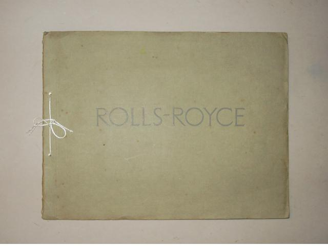 A sales brochure for the Twenty H.P. Six Cylinder Rolls-Royce brochure
