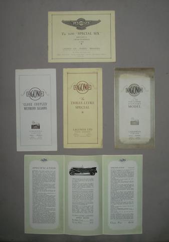 Five Lagonda sales brochures