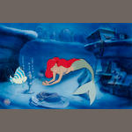 The Little Mermaid: An original Walt Disney celluloid,  1989,