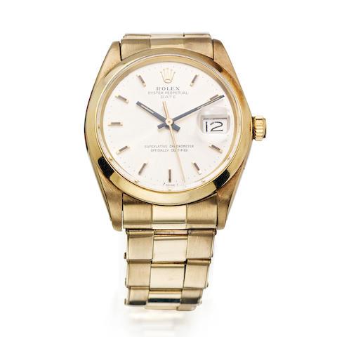 A gentleman's 'Date' wristwatch, by Rolex