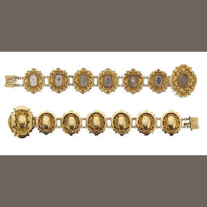 An early 19th century memorial bracelet, circa 1800