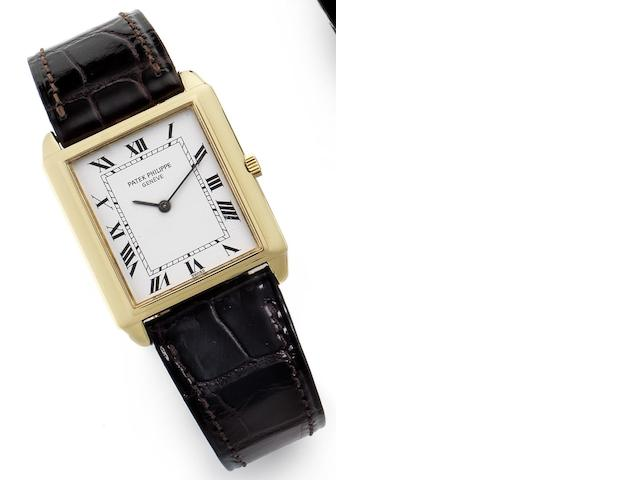 Patek Philippe. A fine 18ct gold manual wind wristwatch together with Extract from ArchivesRef:3671, Case No.2791261, Movement No.1365680, Sold September 28th, 1981
