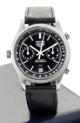 Heuer. A fine stainless steel automatic chronograph calendar wristwatch Verona, Ref:110213 N, Circa 1978