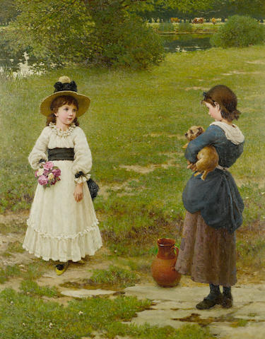 George Dunlop Leslie RA (British, 1835-1921) The Town and Country Mouse