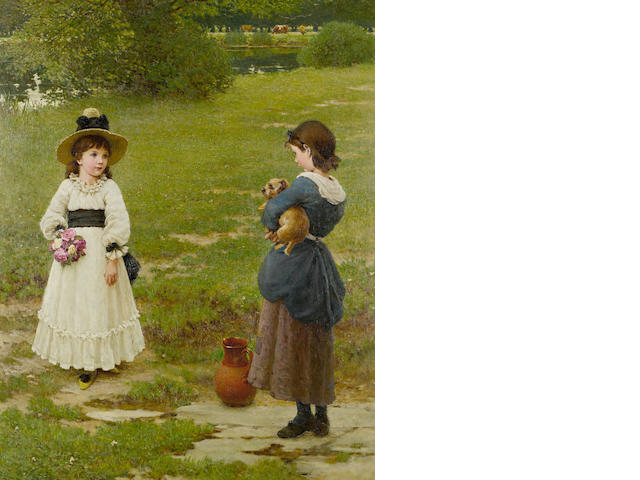 George Dunlop Leslie (British, 1835-1921) The Town and Country Mouse