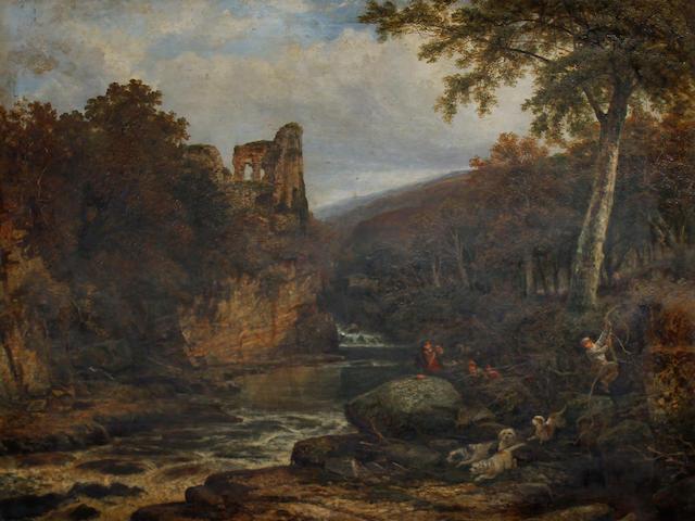 Joseph Paul Pettitt (British, 1812-1882) The otter hunt