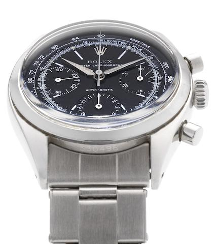 Rolex. A stainless steel manual wind chronograph bracelet watch Oyster Chronograph, Pre-Daytona, Ref:6234, Case No.530496, Circa 1959