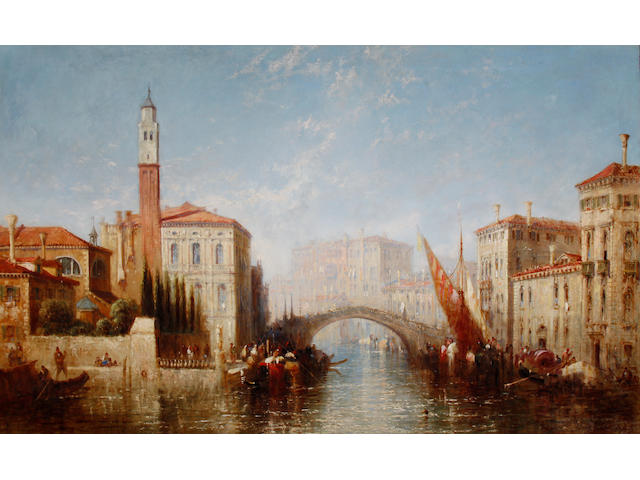 Jane Vivian (British, active 1869-1877) Beautiful Venice