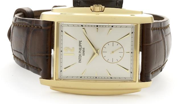 Patek Philippe. A fine 18ct gold manual wind wristwatchGondolo, Ref:5124J, Case No.4428363, Movement No.3689059, Sold 22nd August 2009