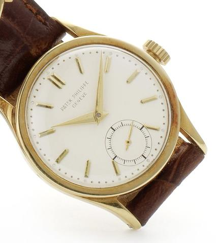 Patek Philippe. An 18ct gold manual wind wristwatchRef:96, Case No.301197, Movement No.962119, Circa 1960