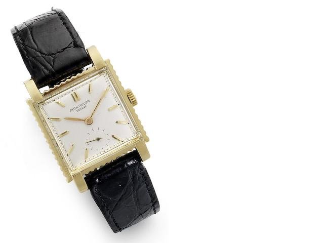 Patek Philippe. An 18ct gold manual wind wristwatch Gondolo, Ref:2472J, Case No. 514617, Movement No. 742895, Circa 1950