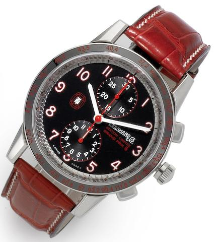 Eberhard & Co. A stainless steel automatic chronograph wristwatch with presentation box and papers Grand Prix Limited Edition, No.18/999, Recent