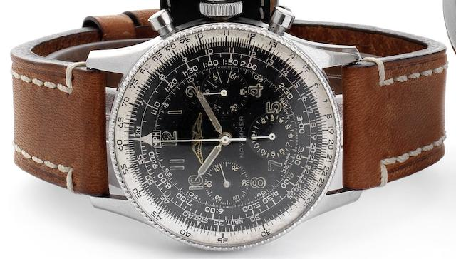 Breitling. A fine stainless steel chronograph wristwatch made for the Aircraft Owners and Pilots Association Navitimer, Ref:806, Case No.871332, Circa 1955