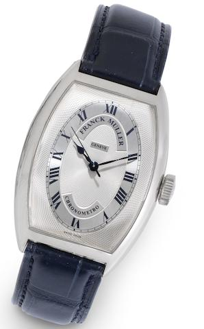 Franck Muller. An 18ct white gold automatic centre seconds wristwatch together with presentation box and papers Ref:5850, No.48, Chronometro, Recent