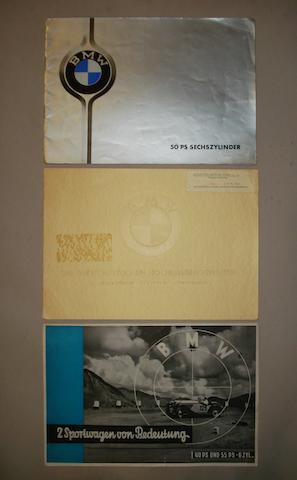 A collection of three BMW pre-War  brochures,