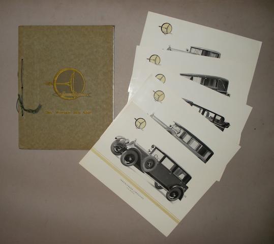 An Austro Daimler 'Das Wunder Des ADR' sales brochure, 1928,