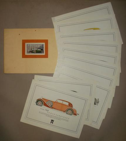 A sales brochure for Horch 8