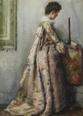 Henry Scott Tuke, RA, RWS (British, 1858-1929) The silk gown, Portrait of Maria Tuke Sainsbury