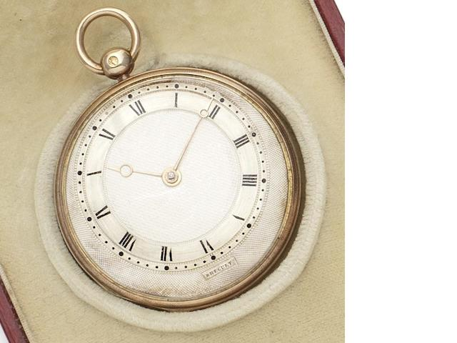 Breguet. A very fine early 19th century two-colour gold pocket watch together with Jump retailer's box Circa 1815