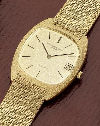 Vacheron Constantin. An 18ct gold automatic calendar bracelet watch together with fitted box and papers Ref: 43012/206, Movement No.656174, 1970's