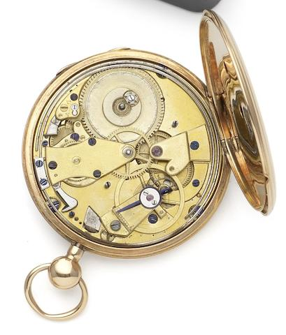 Le Roy & Fils. A mid 18th century continental gold dumb repeating open face pocket watch Circa 1760