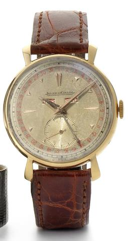 Jaeger-LeCoultre. A very fine 18ct rose gold triple calendar wristwatch Circa 1943