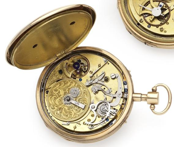 Swiss. An early 19th century open face musical pocket watch Circa 1825
