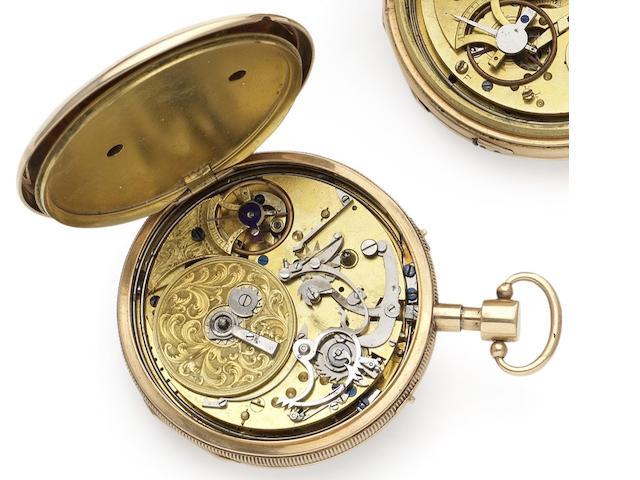 Swiss. An early 19th century open face musical pocket watch Circa 1825
