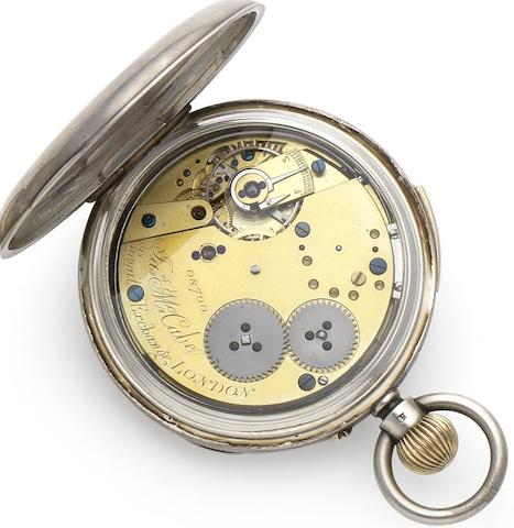 James McCabe. A late 18th century silver case quarter repeating pocket watchCirca 1790, Numbered 08700, Later case with Birmingham Hallmark for 1876
