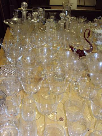A large collection of glasswares