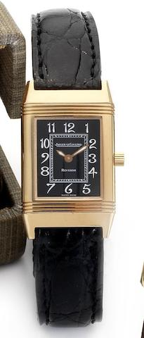 Jaeger-LeCoultre. A lady's 18ct rose gold reversible wristwatch  Reverso, Ref:260286, Case No.1973070, Recent