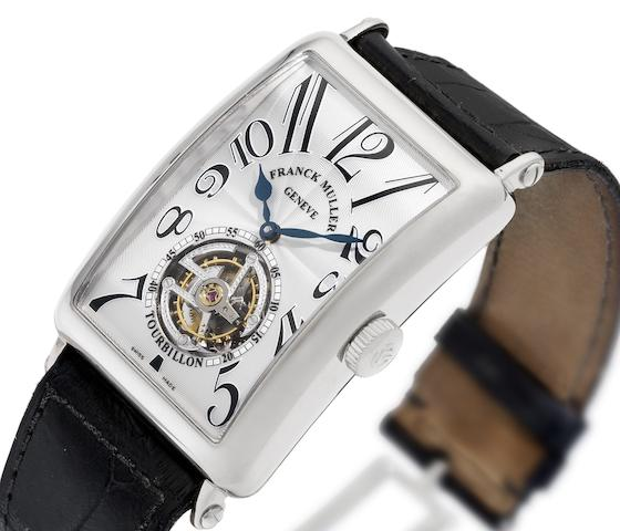Franck Muller. A fine and rare 18ct white gold tourbillon wristwatch with presentation box and Certificate of Origin  Ref:200TWGSTP, No.86, Sold 1st March 2006