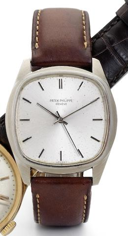 Patek Philippe. A rare 18ct white gold cased automatic wristwatch Ref:3585, Movement No.1490985, Case No.2741596, Circa 1980