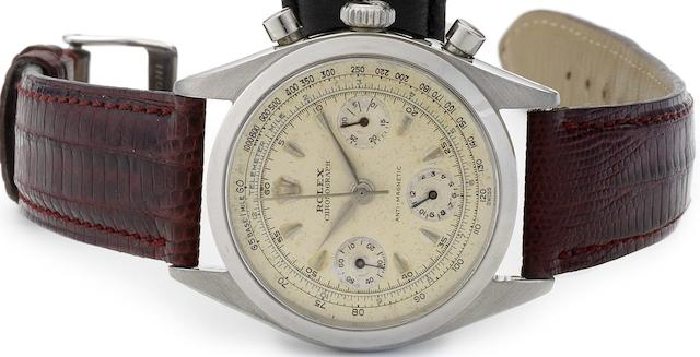 Rolex. A fine and rare stainless steel chronograph wristwatch Oyster Chronograph, Anti-Magnetic, Ref:6234, Circa 1960