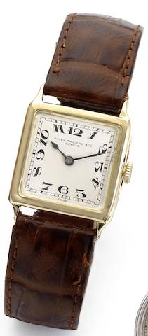 Patek Philippe. A lady's 18ct gold manual wind wristwatch Case No.287533, Movement No.169061, Circa 1920