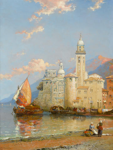 Arthur Joseph Meadows (British, 1843-1907) Amalfi-Gulf of Salerno; Camogli in the Riviera, a pair
