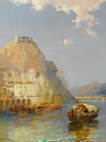 Arthur Joseph Meadows (British, 1843-1907) 'Amalfi-Gulf of Salerno' and 'Camogli in the Riviera', a pair