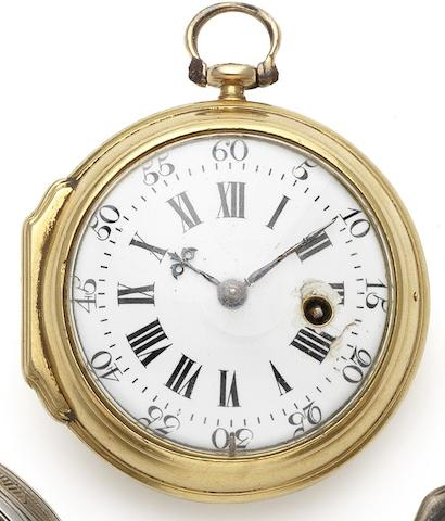 Thomas Mudge. An interesting 18th century gold open face pocket watch London Hallmark for 1737