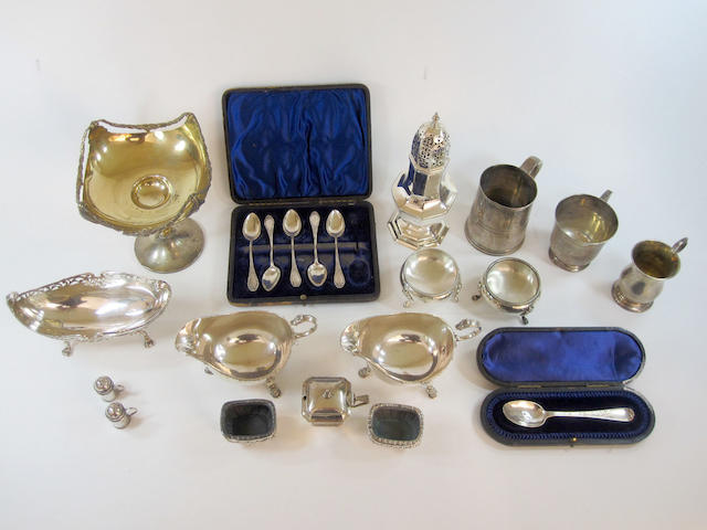 A collection of mainly Victorian silver Various dates and makers