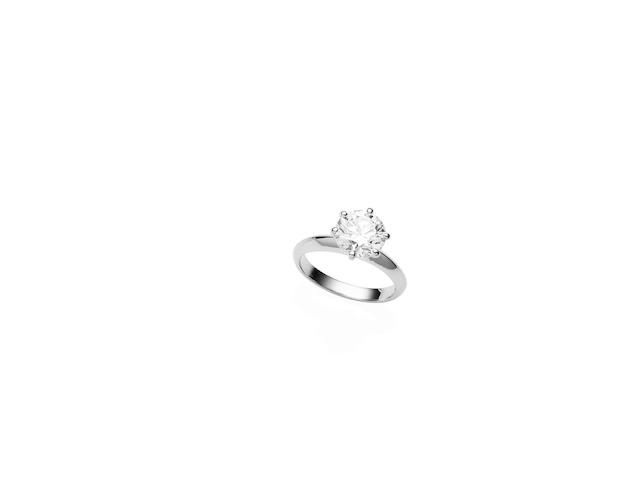 A 2.02 carat solitaire diamond ring