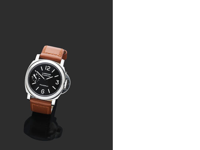 Officine Panerai. A fine stainless steel watch
