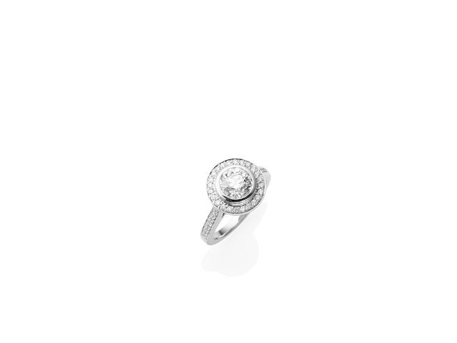 A 1.53 carat solitaire diamond ring