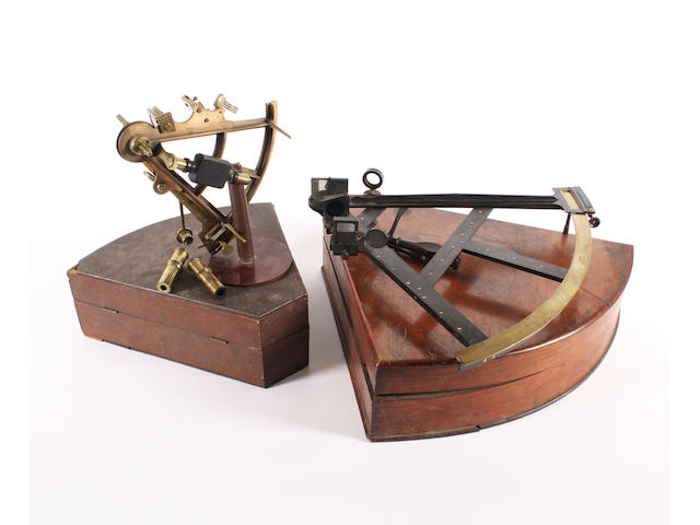 An 'Imray and Sons' brass and copper sextant