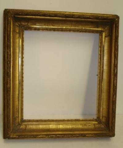 A Victorian moulded gilt gesso picture frame, sight size 30.5 x 35.5cm.