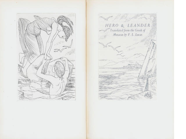 GOLDEN COCKEREL PRESS - 8 volumes, including Hero and Leander, Malory (3), Browning, Coppard, Belle Morphi, Sterne (8)