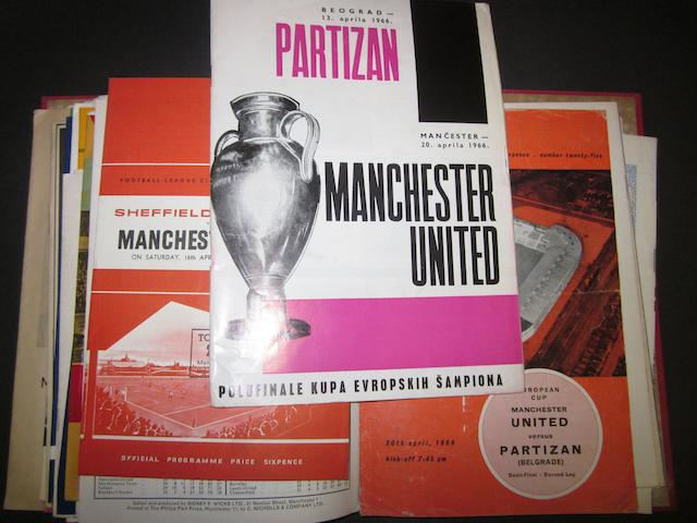 A collection of 1965/66 Manchester United programmes