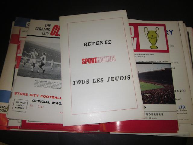 A collection of 1968/69 Manchester United programmes