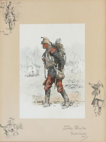 Charlie Johnson Payne, 'Snaffles' (British, 1884-1967) 'Sans Panache' 43 x 34cm.